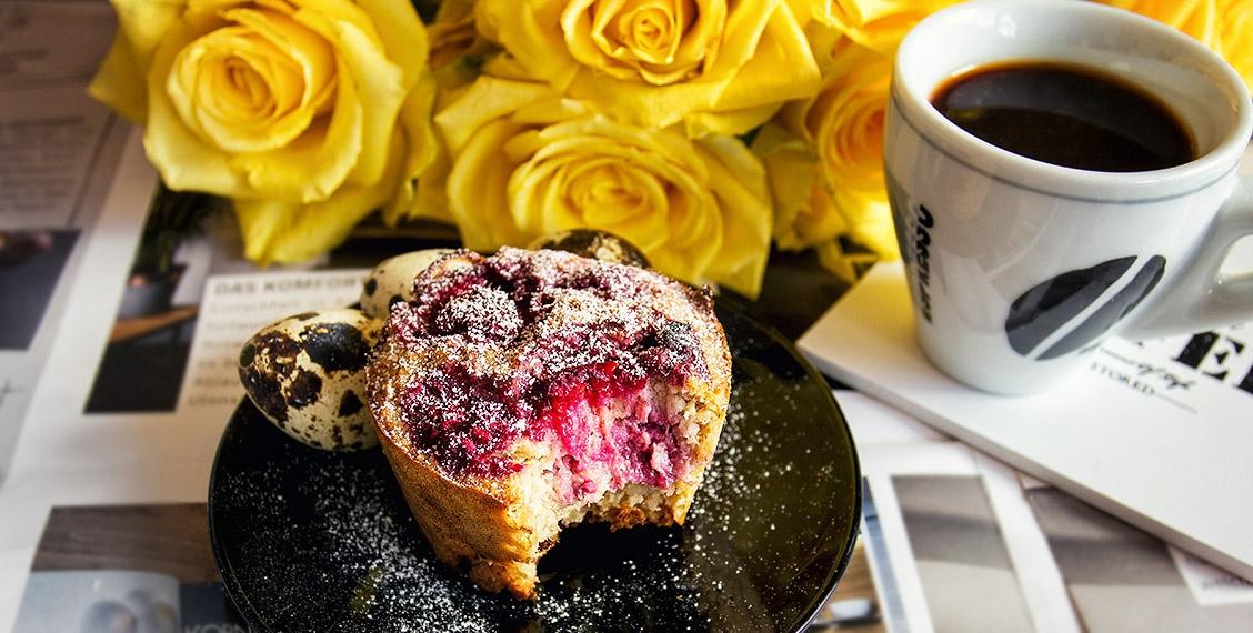Gesunde bunte Frühstücks-Muffins