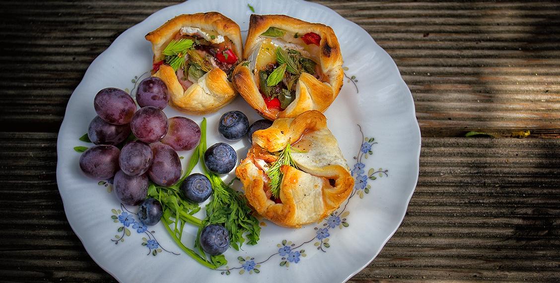 Käse-Wipferl-Blätterteig-Taschen