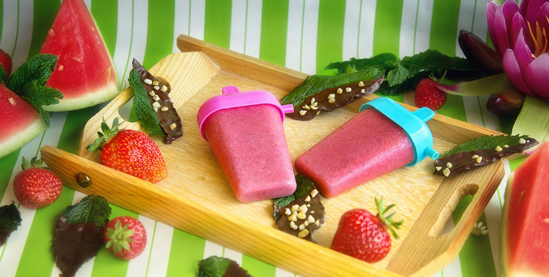gesundes Pink-Power Eis