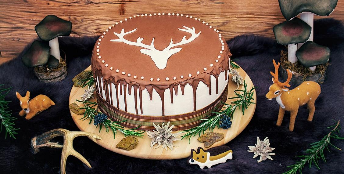 Magic forest cake